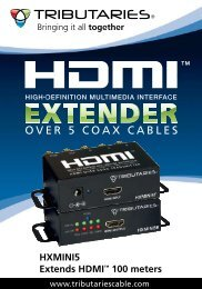 HXMINI5 - HDMI Extender over 5 Coax Cables - Tributaries Cable