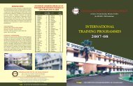 international training programmes - Central Institute of Tool Design