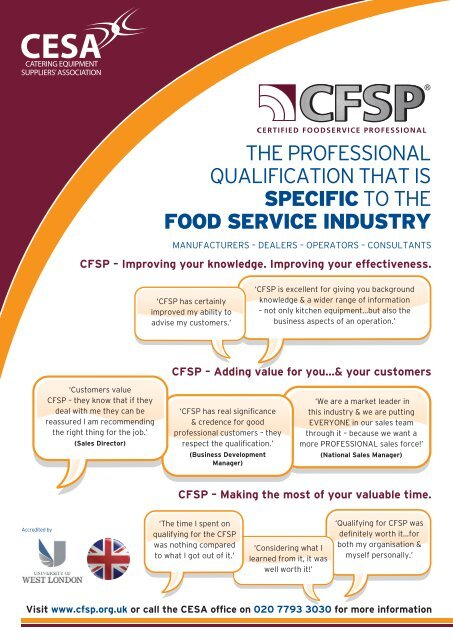 booking form  - Catering Equipment Suppliers Association