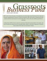Asia Regional Factsheet - Grassroots Business Fund