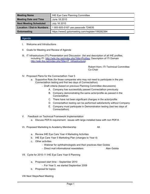 X-TC Meeting Minutes - C36 Lab Message - IHE Wiki