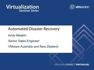 Protected Site Recovery Site - VMware