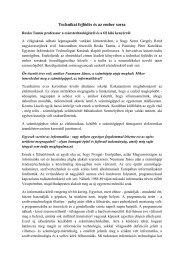 Technikai fejlődés és az ember sorsa - Információs Technológiai Kar ...