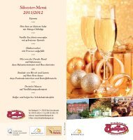Silvester-Menü 2011/2012 - Hotel Am Badepark