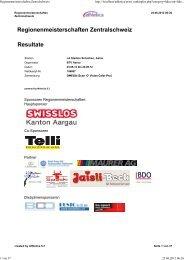 Regionenmeisterschaften Zentralschweiz Resultate - LAR Windisch