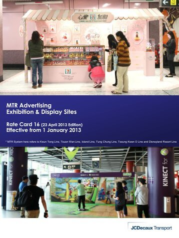 MTR Advertising Exhibition & Display Sites - JCDecaux Group