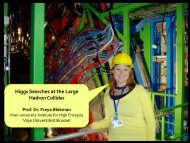 Big Challenges to Find a Small Particle - Freya ... - bell labs belgium