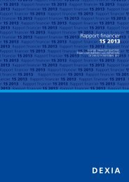 Rapport financier 1S 2013 - Dexia.com