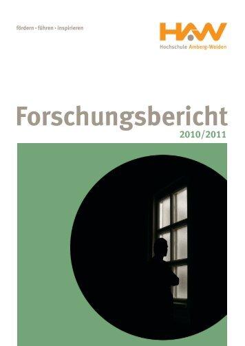 Forschungsbericht 2010/2011 - Hochschule Amberg-Weiden