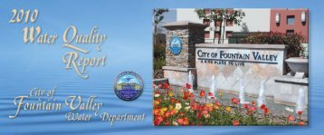 2010 Water Quality Report - City of Fountain Valley