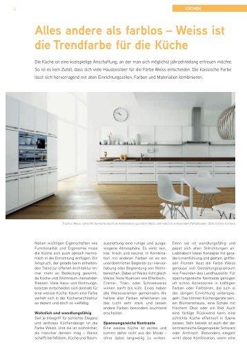 Alles andere als farblos – Weiss ist die Trendfarbe für die Küche