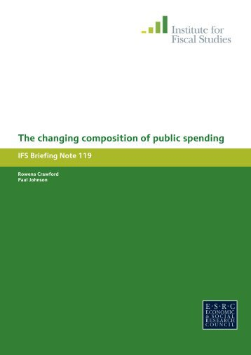 The changing composition of public spending - The Institute For ...