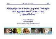 Pädagogische Förderung und Therapie von aggressiven Kindern ...