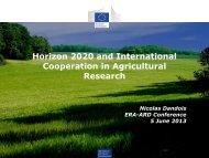 Horizon 2020 and International Cooperation in ... - ERA ARD