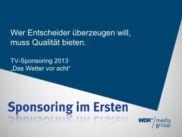 Zum Angebot - WDR mediagroup