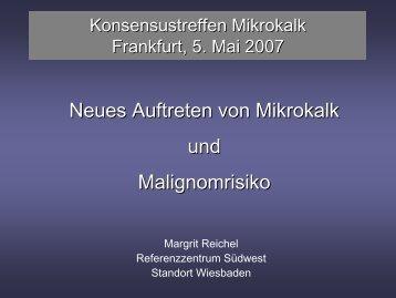 Neues Auftreten von Mikrokalk und Malignomrisiko
