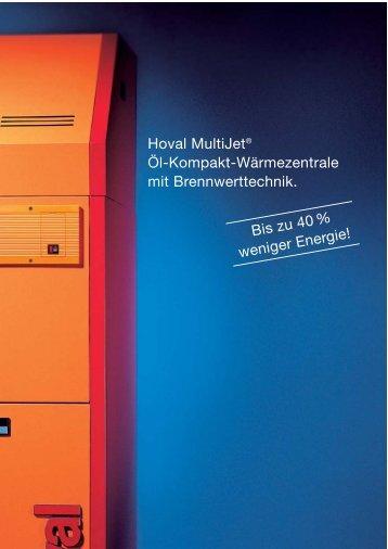 Hoval MultiJet® Öl-Kompakt-Wärmezentrale mit ... - Heizung