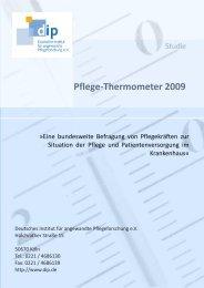 Pflege-Thermometer 2009 (Kurzfassung) - Deutsches Institut für ...