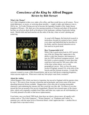 Conscience of the King by Alfred Duggan - Lone Warrior Blog