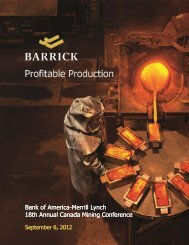 PDF 2.27 MB - Barrick Gold Corporation