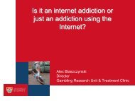 Is it an internet addiction or just an addiction using the Internet?