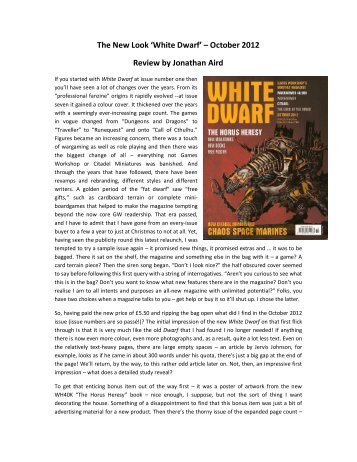 White Dwarf magazine - Lone Warrior Blog