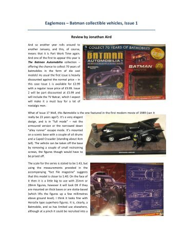 Eaglemoss – Batman collectible vehicles, Issue 1 - Lone Warrior Blog