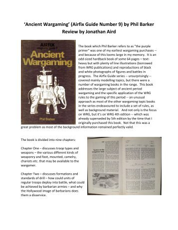 'Ancient Wargaming' (Airfix Guide Number 9) by ... - Lone Warrior Blog