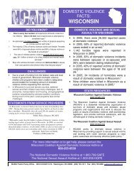 WISCONSIN - National Coalition Against Domestic Violence