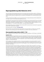 Hebamme 2012 - Gesundheit - Berner Fachhochschule