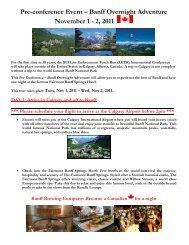 Pre-conference Event – Banff Overnight Adventure
