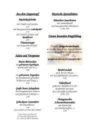 Aus dem Suppentopf Salate und Vorspeisen ... - Wohin Mittags