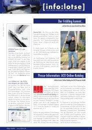 Der Frühling kommt... Presse-Information: ACO Online-Katalog News