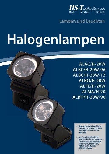 Halogenlampen - HS-Technik