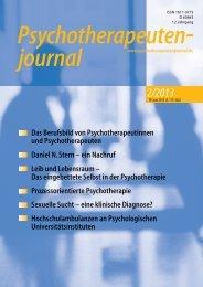 Psychotherapeutenjournal 2/2013 (.pdf)