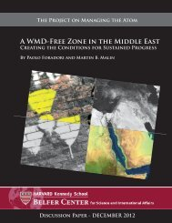 A WMD-Free Zone in the Middle East - Belfer Center for Science and ...