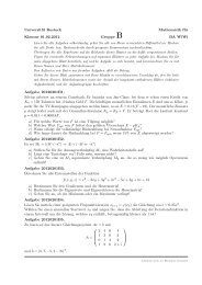 Universität Rostock Mathematik für Klausur 01.02.2012 Gruppe B ...