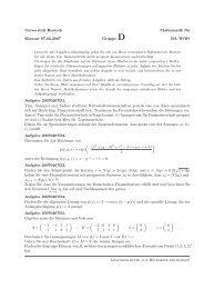 Universität Rostock Mathematik für Klausur 07.02.2007 Gruppe D ...