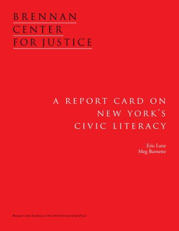 a report card on new york's civic literacy