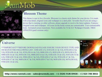 Blossom Theme Universe - RunMob