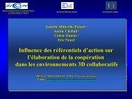 Influence des référentiels d'action sur l'élaboration de la coopération ...