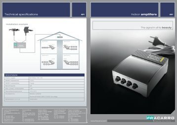 Technical specifications - Fracarro