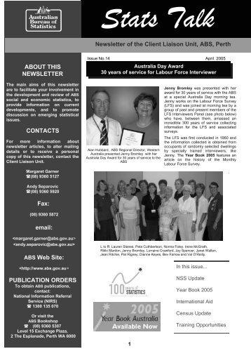 Stats Talk Edition 14 (1) - Australian Bureau of Statistics