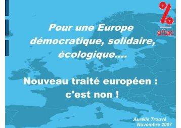 Aurélie Trouvé - Contacter un comité local d'Attac