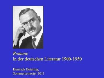 Zauberberg Der Tod in Venedig - Heinrich Detering