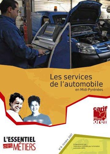 Les services de l'automobile - Carif Oref Midi-Pyrénée