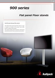 900 series Flat panel Floor stands - Bitstream