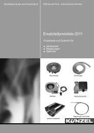 Künzel Heizkessel Ersatzteil-Preisliste und ... - Heizungs-Discount