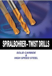 Spiralbohrer Carbide DREAM Drills - Mla-sales.com