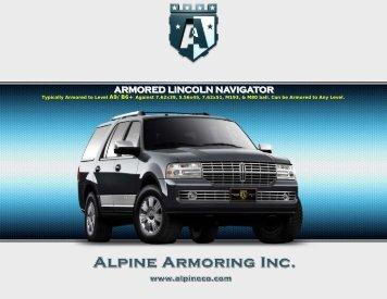 ARMORED LINCOLN NAVIGATOR - Alpine Armoring Inc.